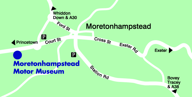 Map of Moretonhampstead Motor Museum
